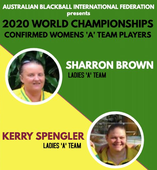World Blackball Championships 2020 Australian ladies players