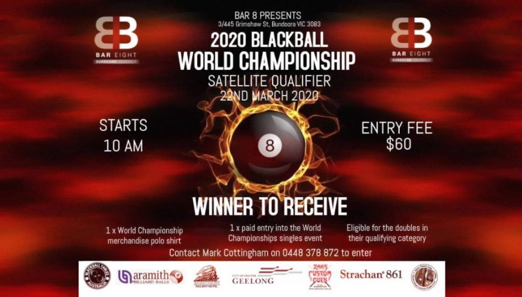 Bar Eight Bundoora World Blackball Championships 2020 qualifier