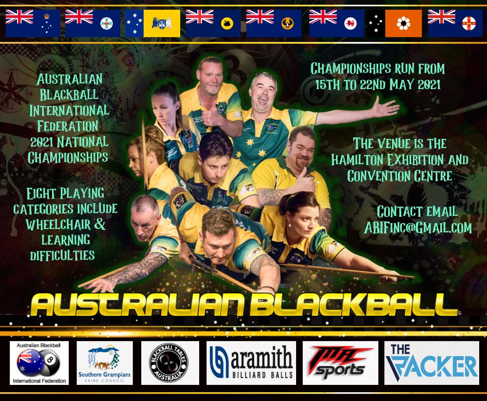 Australian National Blackball Championships 2021 poster